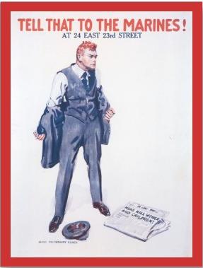 Marine Corps recruiting poster